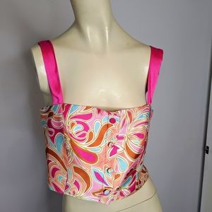 Zara crop top NWOT side zip